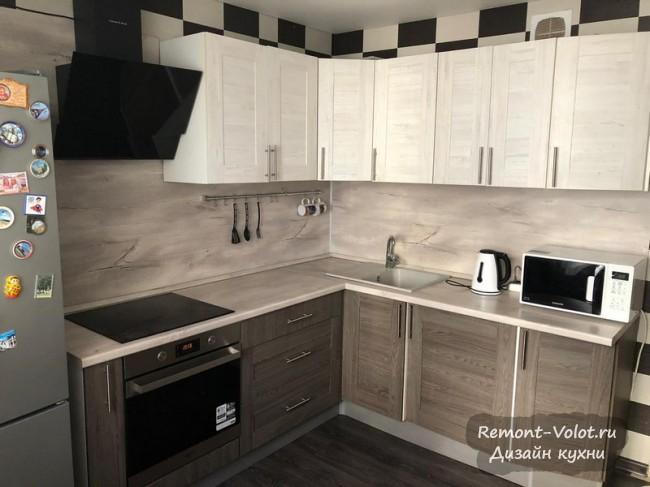 Бюджетная кухня 10 кв м из Леруа Мерлен цвета