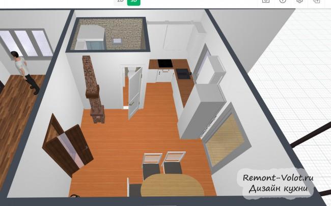 Планировщик квартиры в режимах 2D и 3D